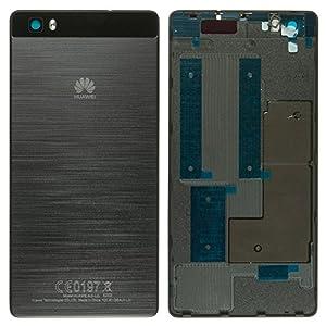 Original Huawei Akkudeckel black / schwarz für Huawei P8 Lite (Akkufachdeckel, Batterieabdeckung, Rückseite, Back-Cover)
