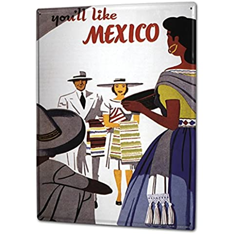 Cartel Letrero de Chapa XXL Trotamundos Los locales turísticos de México
