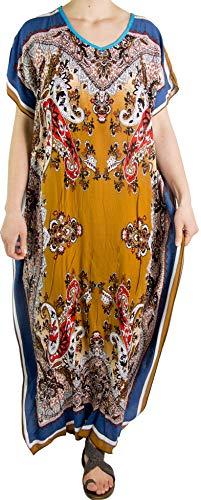 d600a5cc7e7b Sakkas 18212 - Vestito da Caftano con Stampa Africana Dashiki Donna Aggy  Maxi Boho Hippie colorato