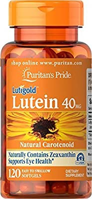 Puritan's Pride Lutein 40 mg with Zeaxanthin-120 Softgels by Puritan's Pride