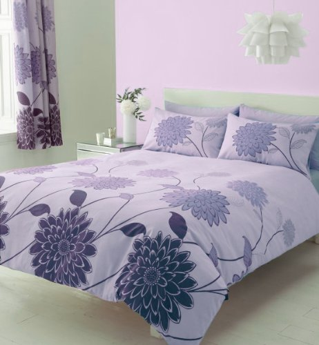bettwasche-set-doppelbettgrosse-aubergine-mit-passender-vorhang-16764-x-18288-cm-blatt