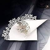 50 Pz Coni Portariso Matrimonio Bianco, Coni Riso con Svuotare Farfalla, Coni Portaconfetti Confettata Come Bomboniere Segnaposto per Matrimonio, Battesimo, Compleanno, Baby Shower