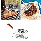 HCFKJ Kreatives Gril Brandeisen Werkzeug BBQ Form mit veränderbaren Buchstaben
