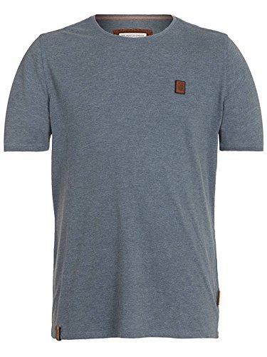 Naketano Male T-Shirt Halim Trabando II heritage dark ash melange