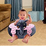 Besties Baby Soft Plush Cushion Cotton Baby Sofa Seat Infant Safety Car Chair Learn To Sit Stool Training Kids Support Sitting For Dining (Elephant Color)