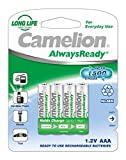 Camelion 17406403 Ni-MH Akku HR03/AAA/Micro, 600mAh, 4er-Pack chrom