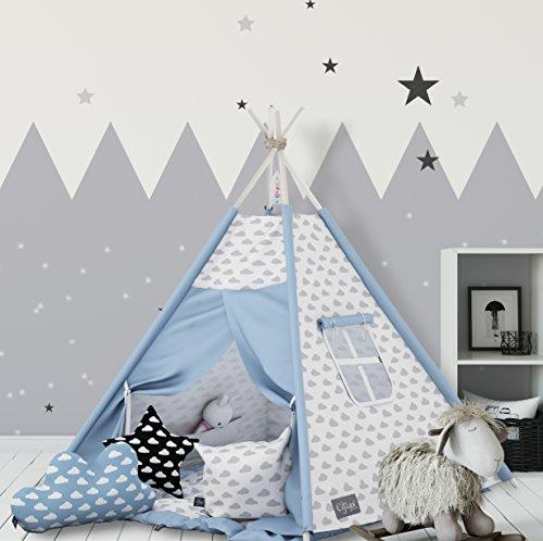 Elfique 'Tente tipi Indien avec Double Couette et Oreiller Trois rembourré