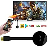 wecast WiFi Display Dongle, 5g 1080P Airplay Dongle numérique AV Récepteur HDMI Dongle Airplay DLNA Miracast pour Netflix et Youtube