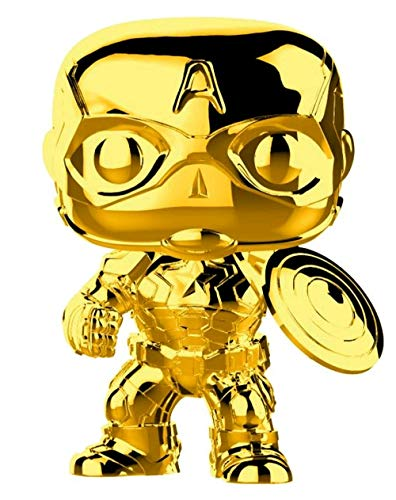 Funko 33515 Marvel Studios 10: Captain America (Chrome) POP Bobble, Multi