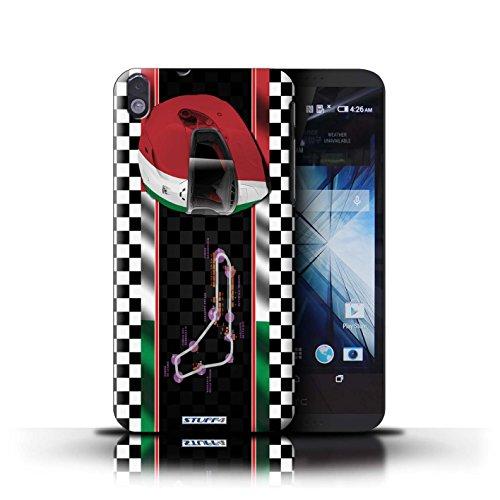 Kobalt® Imprimé Etui / Coque pour HTC Desire 816 / Malaisie conception / Série F1 Piste Drapeau Italie/Monza