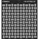 """CrafTreat Stencil - Basket Weave 