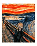 Wowdecor Kit de pintura números para niños adultos, manualidades, pintura de números - el tornillo de Edvard Munch 40 x 50 cm - Nuevo lienzo estampado, Frameless