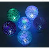 Flame Less Thread Ball Multicolored Automatic Changing LED Tealight Set Of 12