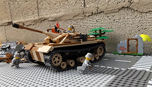 Modbrix 2465 - ✠ Bausteine Jagd Panzer STURMGESCHÜTZ III AUSF. G Panzer inkl. custom Wehrmacht Soldaten aus original Lego© Teilen ✠ thumbnail