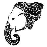 Laser-Kunststoff-Schablone, DIN A4, Elefant | Kreative Wandgestaltung, Textilien, Papier, Scrapbooking
