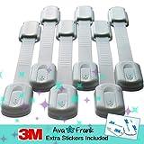6 Selbstklebende Sicherheitsschlösser für Kindersicherung, Schubladensicherung