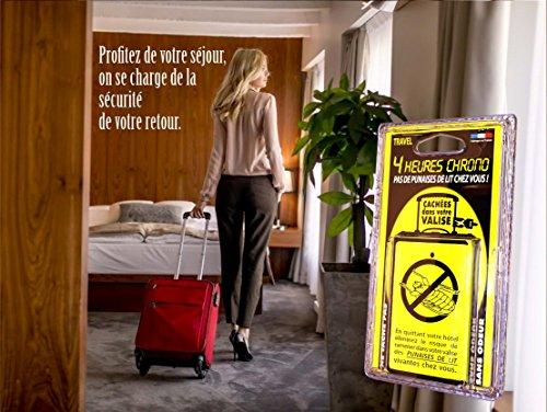 Plaquette anti-punaises de lit pour valise et bagages