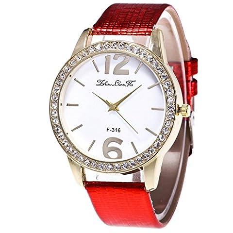 VENMO Women's Quartz Watches White PU Leather Strap Valentine's Day
