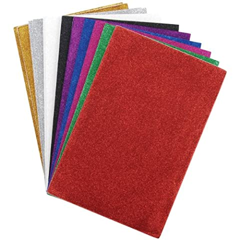 Darice Various Glitter Sticky Back Foam Sheets 6-inch x 9-inch 12 kg Assorted Colors