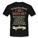Spreadshirt Geburtstag Träger 50 Jahre Rahmenlos Männer T-Shirt, XL, Schwarz