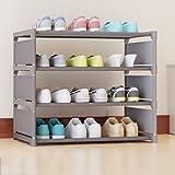 Hyun times Schuh-Racks einfache mehrstöckige Tuch Aufbewahrungsschränke multifunktionale Staub Schlafzimmer Schlafsaal Hause Schuhe Racks ( Farbe : Grau )
