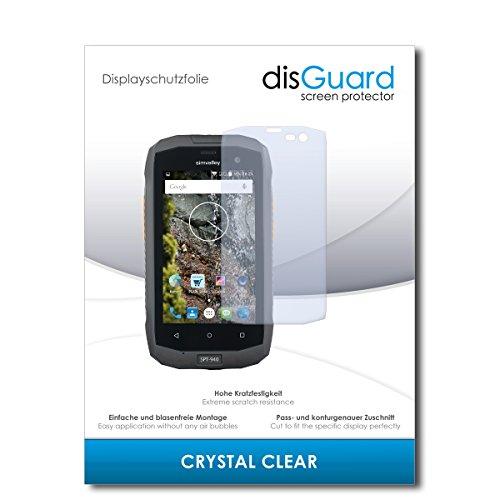 disGuard® Displayschutzfolie [Crystal Clear] kompatibel mit Simvalley Mobile SPT-940 [3 Stück] Kristallklar, Transparent, Unsichtbar, Extrem Kratzfest, Anti-Fingerabdruck - Schutzfolie