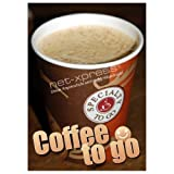 net-xpress® Plakat für den Verkauf von Coffee to go DIN A1, Werbeplakat Poster Kaffee Bäcker