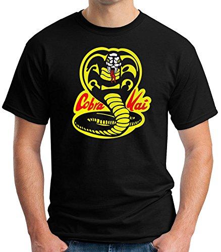 519HNxXY7AL - Camiseta Cobra Kai negra para hombre