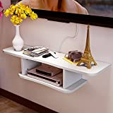 MEI Wohnzimmer TV-Set Top-Box Rack Wand-Multi-Color Rack Schlafzimmer Clapboard Wandregal TV-Schrank ( Farbe : Weiß )
