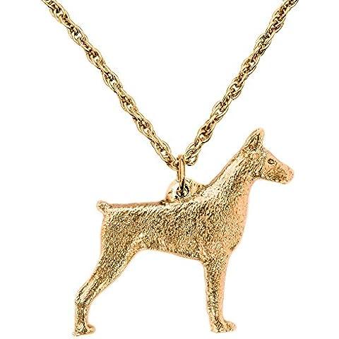 Dobermann (con le orecchie tagliate) Made in UK, Collezione Pendente Collana Artistici Stile Cani