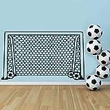 Mbambm Fußball Fußball Tor Net Ball Sport Wandtattoo Vinyl Dekor Kunst Wandaufkleber Für Jungen Kinder Kindergarten Wohnkultur Wandbild
