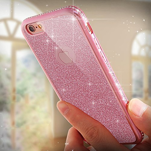 iPhone 6S Hülle Silicone,iPhone 6S Hülle Glitzer,iPhone 6 Hülle Rosa,EMAXELERS iPhone 6S Plating Gold TPU Bumper Case Soft Silikon Gel Schutzhülle Hülle für iPhone 6 4,7 Zoll,iPhone 6S Hülle Glitzer D Z TPU 1