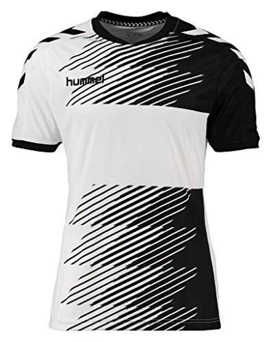 Hummel Jungen T-Shirt Liga Jersey, Schwarz(Black/White), 160 - 170, 03-668-2114 (Gestickte Hummel)