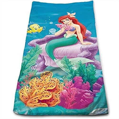 Super saugfähige Sporthandtücher Ariel Mermaid Disney Princess Handtuch/Badetuch/Strandtuch - für Fitness, Spa, Bad, Pool, Strand, Reisen 11,8 X 27,5 (Disney Princess Erwachsene)