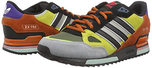 wholesale dealer fa9d2 ec77c ... low price adidas zx 750 zapatillas para hombre color negro gris amarillo  naranja df06c 880be