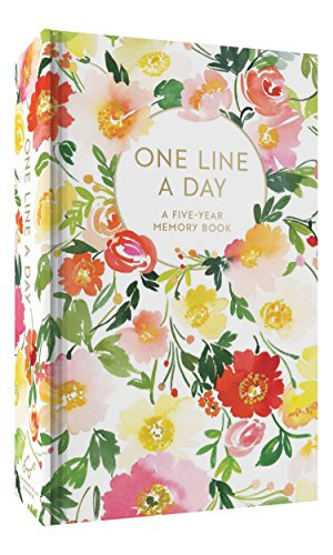 Floral One Line a Day: A Five-Year Memory Book