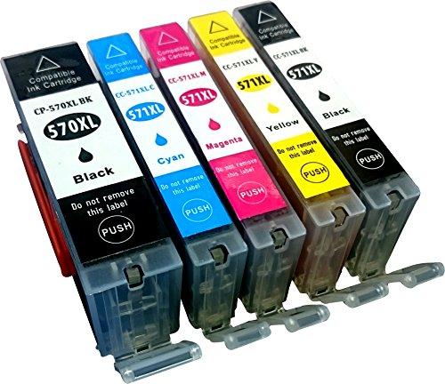 Youprint 5 kompatible Druckerpatronen YP-PGI570 YP-CLI571 5er Pack (Schwarz, Cyan, Magenta, Yellow, Fotoschwarz)