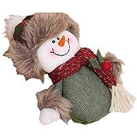 Gysad Papá Noel Adornos arbol navidad Muñeco de nieve Adornos de navidad Exquisito y encantador Navidad adornos Regalo creativo size 23cm*13cm (Muñeco de nieve)