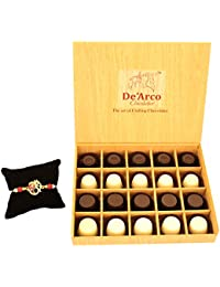 DEARCO CHOCOLATIER CHOCOLATE GIFT BOX, RAKHI CHOCOLATE For BROTHER, Luxury Rakhi Gift, PREMIUM RAKHI GIFT CHOCOLATES... - B073ZMW6VG