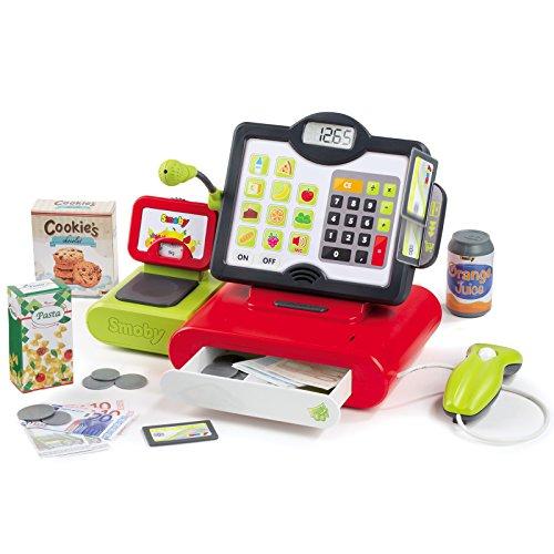 Elektronische Supermarktkasse mit Taschenrechnerfunktion • Kasse Scanner Kaufladen Einkaufsladen Laden