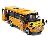 """Baellar 9 """"Amarillo Pull-Back School Bus aleación vehículos Diecast juguete con luces, sonidos y puertas abiertas …"""
