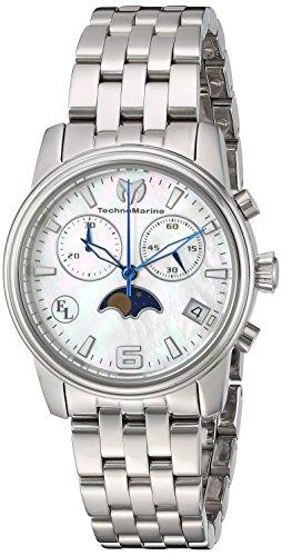 Technomarine 'de la mujer reloj de cuarzo reloj Casual acero inoxidable de Eva Longoria, color: silver-toned (modelo: tm-416015)