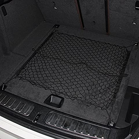 Trunk SUV Rear Cargo Elastic Car Storage Net Rear Cargo Trunk Organizer Hook Cargo Net-