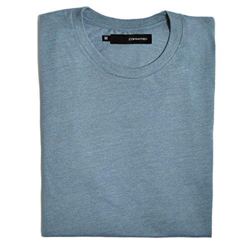 Blank Denim-denim (DEPARTED Herren T-Shirt Blank Größe L, Ocean Denim Blue Triblend)