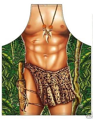 Schürze Tarzan Grillschürze Partyschürze Kochschürze