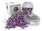 Purpurina gruesa, purpurina cosmética, para uso en cara, cuerpo, uñas y pelo, para festivales