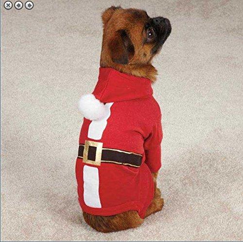 ner Hoodie Jacke kleidung kleidung Hochwertige Qualität alle Größen, Große Hunde, Kleine Hunde, Jacke, Pullover, Mantel Hoodie XXXS XS S M L XL Welpe Chihuahua zu alstation (Santa Anzug Pullover)
