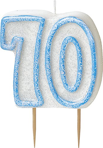 bling-party-decorations-and-tableware-for-70th-birthday-in-blue-glitz-sparkle-70-candle
