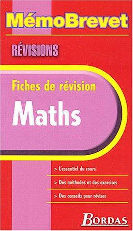 MEMO BREVET REVISION MATHS (Ancienne Edition) par Collectif
