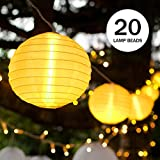 Cadena de luces LED, Ubegood 20 LEDs Solar Cadena de Luces para Árbol de Navidad, Jardín, Patio, Bodas, Terraza y Todas las Decoraciones (Cálido Blanc